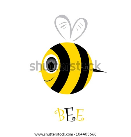 Cute Bee Logo Bee Icon Cartoon Cute Bright