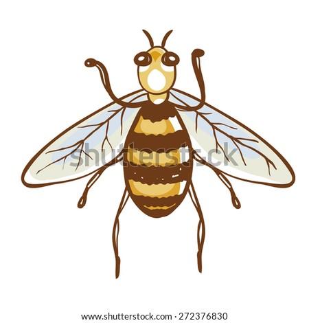 Bee illustration - stock vector