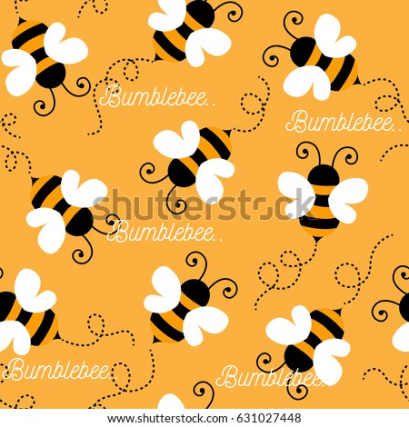 Bee pattern background . seamless pattern