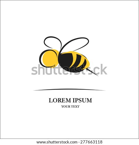 Bee sign for logo - stock vector