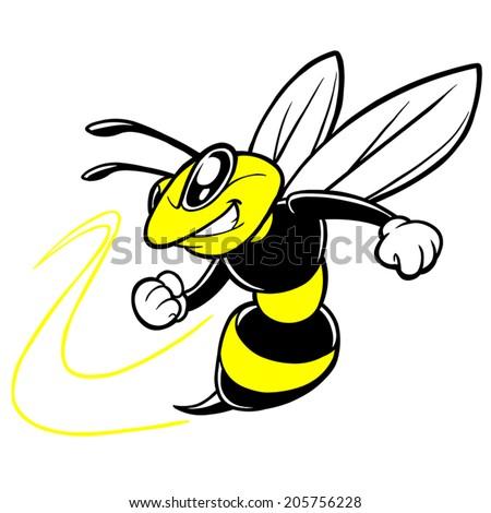 Bee Team Mascot - stock vector