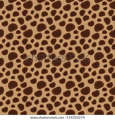 Beef pattern background on pastel brown color tone