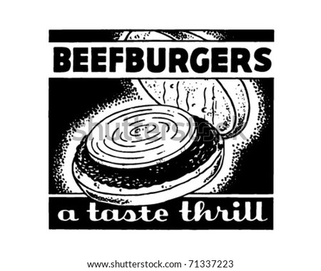 Beefburgers - Retro Ad Art Banner - stock vector