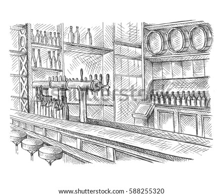Garde tes amis près de toi, et tes ennemis… || ft. Selden Stock-vector-beer-bar-pub-long-table-with-chairs-in-graphic-style-vector-illustration-588255320