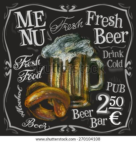 beer bar vector logo design template. alcoholic drink or menu board icon. - stock vector
