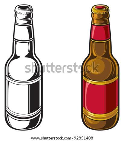 beer bottle stock vector 92851408 shutterstock rh shutterstock com beer bottle vector transparent background beer bottle vector illustrator