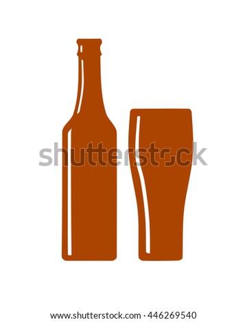 Beer Bottle Silhouette