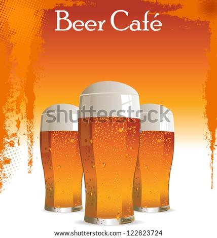 Beer cafe - stock vector