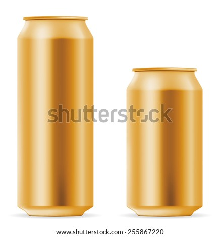Beer can 500 and 330 ml. EPS-10