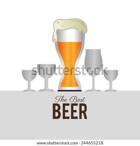Beer design over white background, vector illustration.