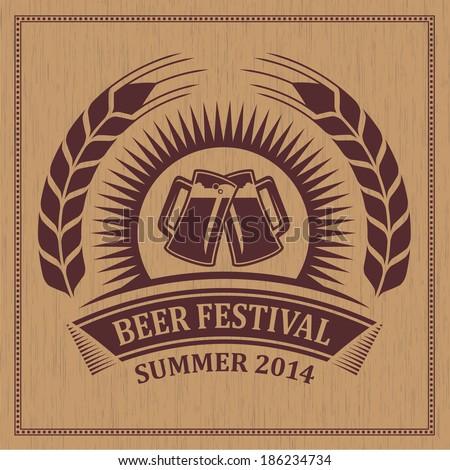 Beer festival icon symbol - vector design - stock vector