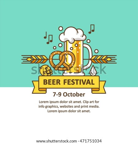 Beer festival. Vector illustration for banners, flyers, posters and other types of business design.