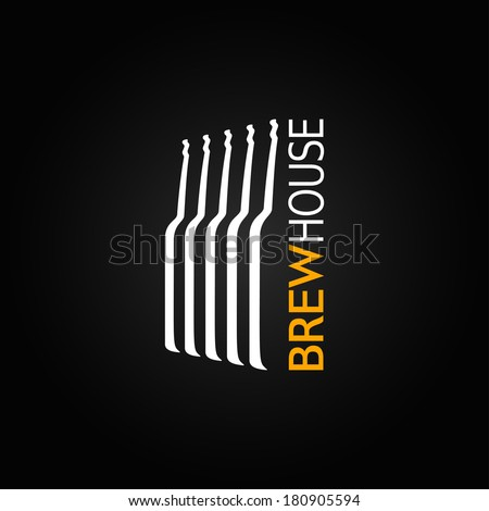 beer glass bottle design background - stock vector