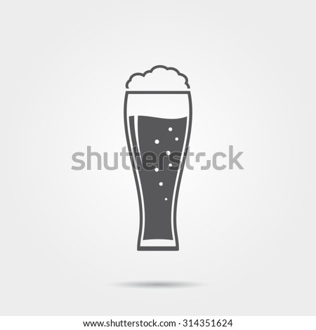 Beer glass icon - stock vector