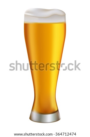 beer glass illustration white,object,sign lager,background pint,foam,alcohol,yellow,white,vector,mug,brown,isolated,white,brewing,frosty drop brewing,ale,brewing,symbol,cold,pub liquid,drink,gold, - stock vector