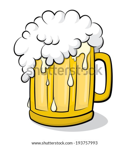 beer glass overflowing vector clip art stock vector 2018 193757993 rh shutterstock com beer stein clipart black and white beer stein clipart black and white