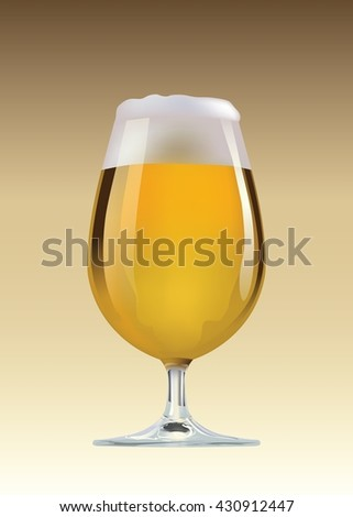 Beer glass vector illustration.