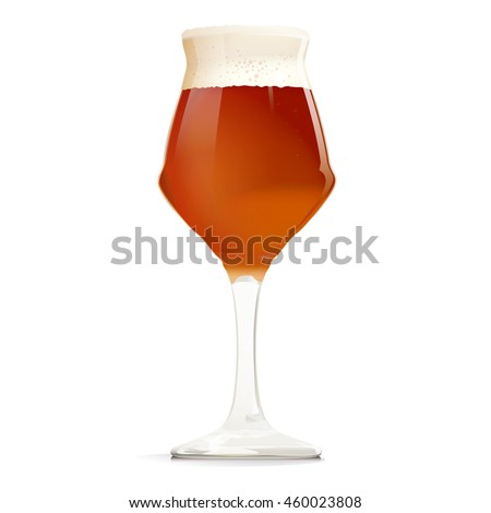 Beer Glass with APA - one of the types of beer. It can be used for web, printing, advertising and information about your restaurant or brewery.