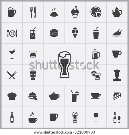 beer icon. cafe icons universal set for web and mobile