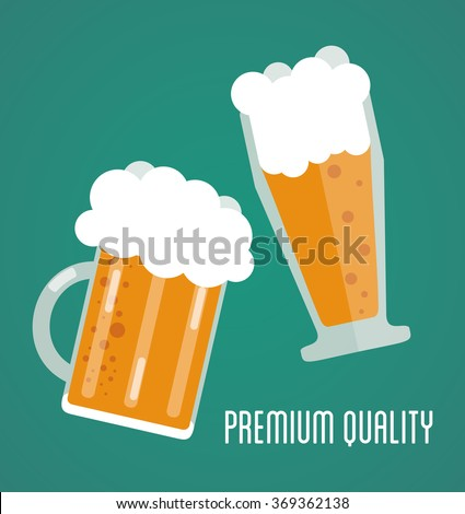 Beer icon design  - stock vector