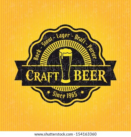 retro set styled label beer good stock vector 154157660 shutterstock. Black Bedroom Furniture Sets. Home Design Ideas
