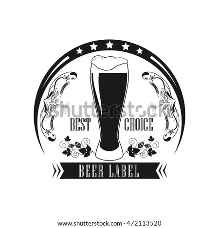 Beer Label. Logo for the pub and restaurant.