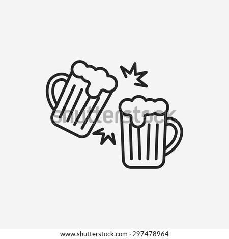 beer line icon - stock vector