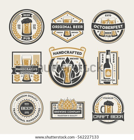 Beer stock images royalty free images vectors for Classic house labels
