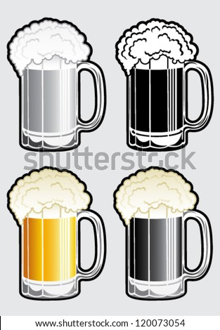 Beer Mug Illustration - stock vector