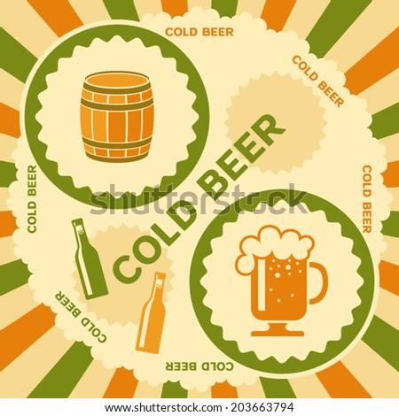 Beer poster design - stock vector