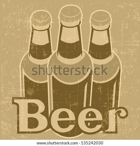 beer poster vintage style - stock vector
