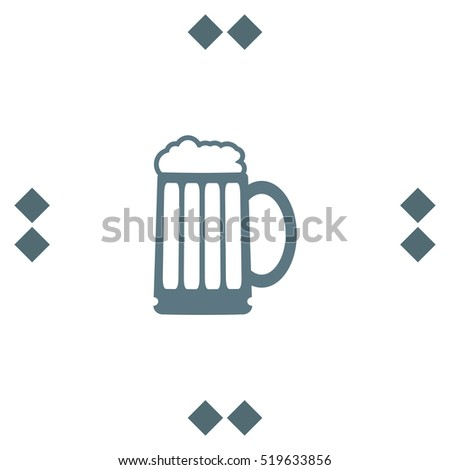 Beer Vector Icon Bar Sign Pub Stock Vector 519633856 Shutterstock