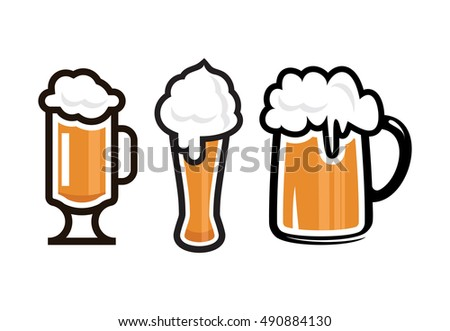 Beer vector icons