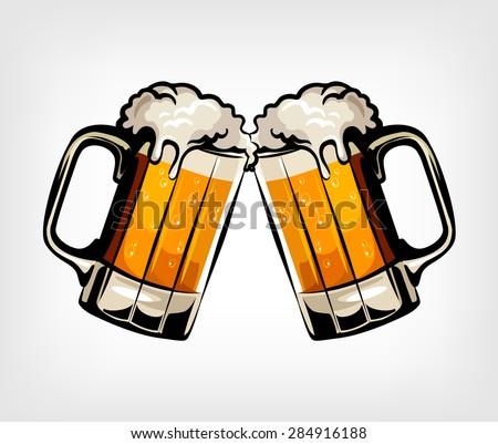 Beer vector illustration - stock vector