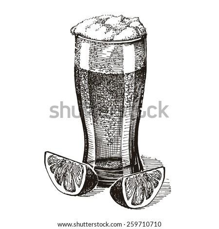 beer vector logo design template. pub or drink icon. - stock vector
