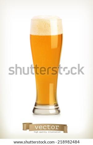 Beer, vector object - stock vector