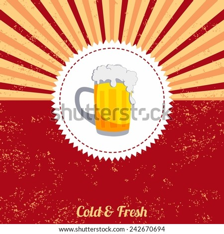 beer vintage template - stock vector
