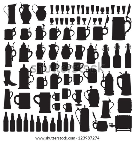 Beer ware silhouettes