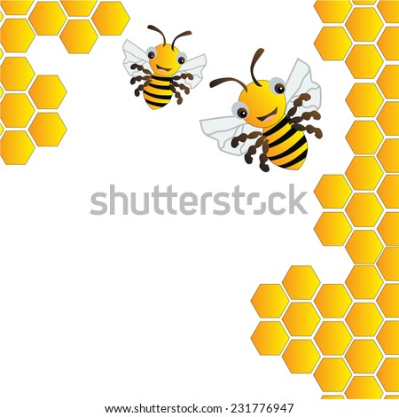 Bees in beehive background