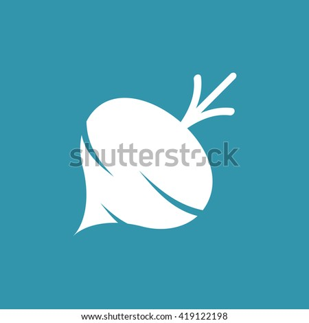 Beet or Turnip Icon. Eps-10. - stock vector