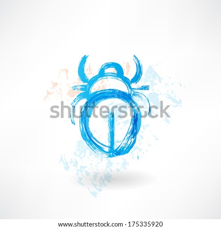 beetle grunge icon - stock vector