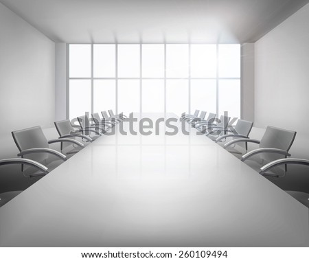 Before conference. Vector illustration. - stock vector