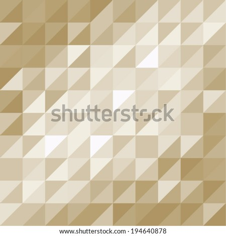 Beige Abstract Pattern - Triangle and Square repeat seamless pattern - for background, card, poster, banner, label, textile design - stock vector