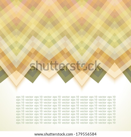 Beige Abstract Retro Vector Background, Fashion Zigzag Pattern of Color Stripes - stock vector
