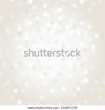 beige background with geometric shapes - stock vector