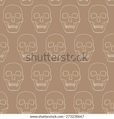 beige background with skulls