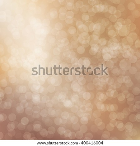 Beige Bokeh background with defocused lights. Vector illustration EPS10. Design for your cards, brochures, cover, flyers, banners, posters etc. - stock vector
