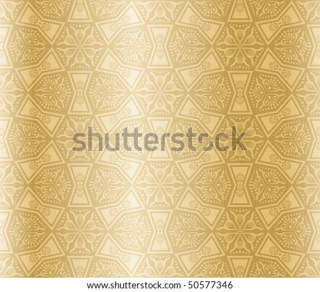 Beige colored seamless arabesque (Eps10); JPG version also available - stock vector