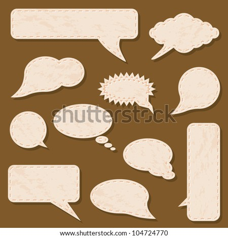 beige communication bubbles