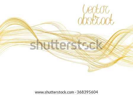 Beige Lines and Golden Waves. Vector Illustration
